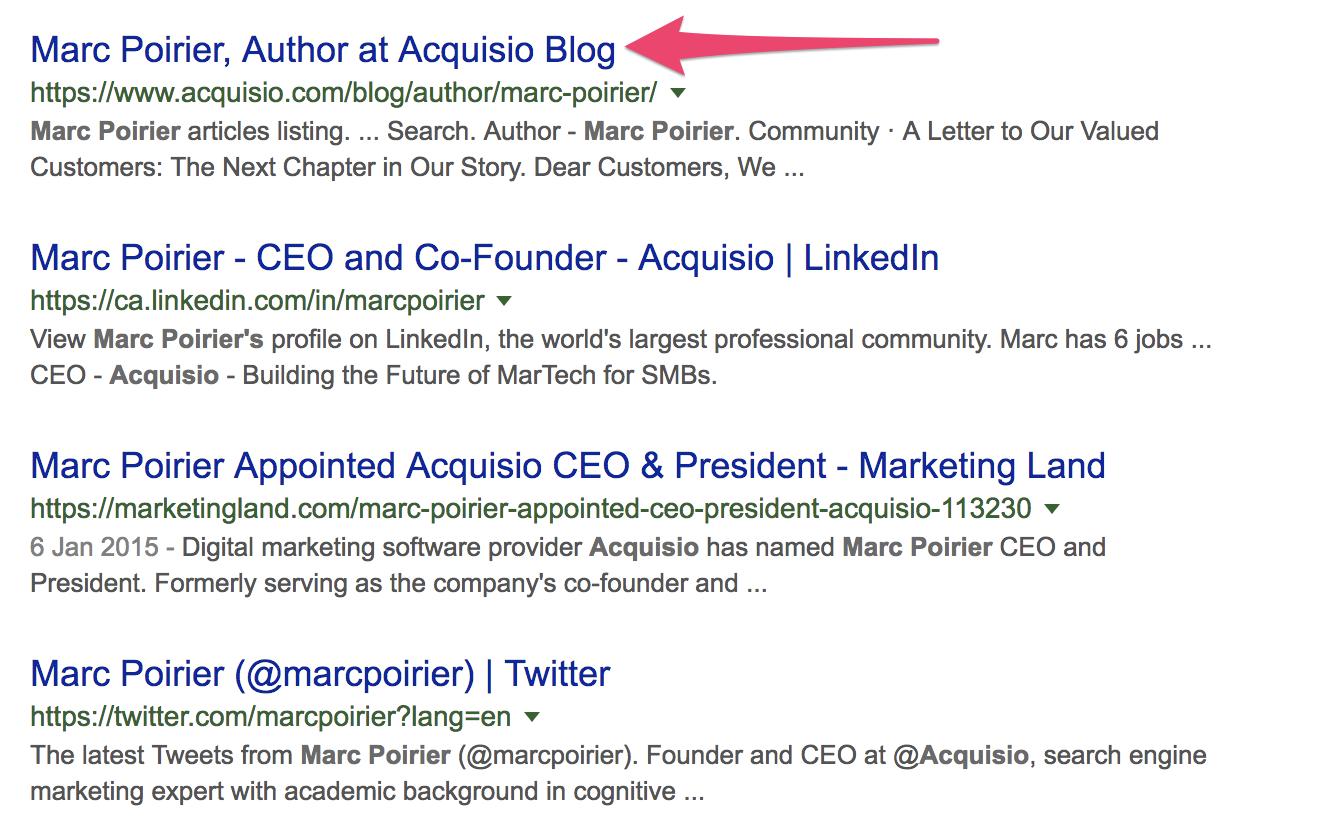 Google para marca perssoal