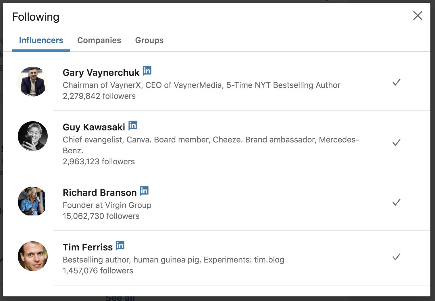 Gary Vaynerchuk LinkedIn