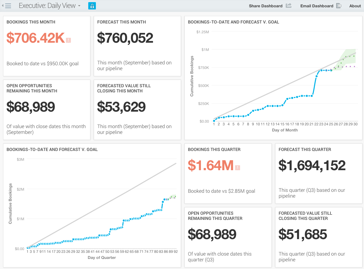 Executive Daily View Dashboard