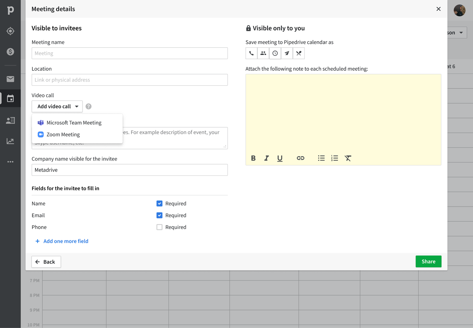 Scheduler Zoom and Microsoft Teams